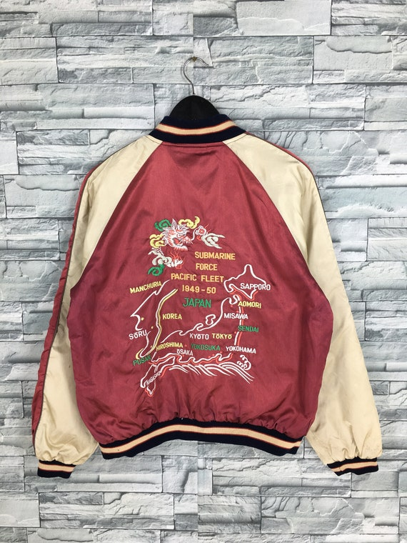 Vintage 80s Sukajan Dragon Souvenir Jacket Medium