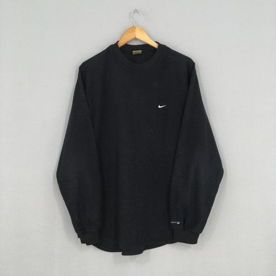 Vintage Nike Swoosh Sweatshirt Medium Black Sports