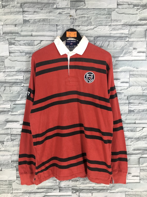 POLO SPORT Rugby Shirt Large Vintage 1990s Ralph L