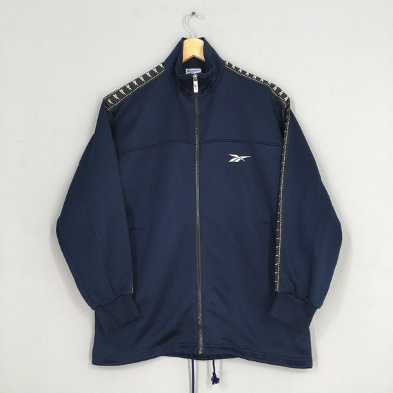 Reebok Sports Windbreaker Jacket Small Blue Vintag