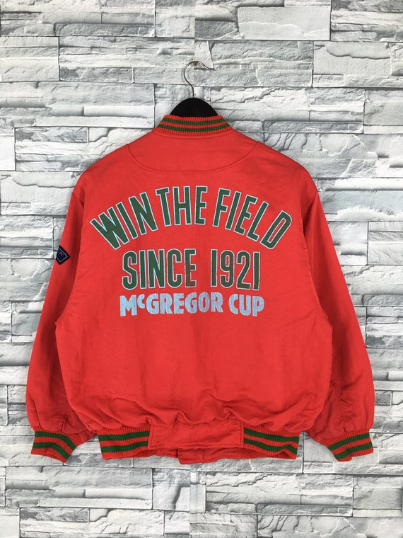 Mcgregor Bomber Varsity Jacket Medium Mens Vintage