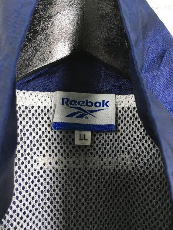 Reebok Sports Windbreaker Jacket Large Blue Vinta… - image 3