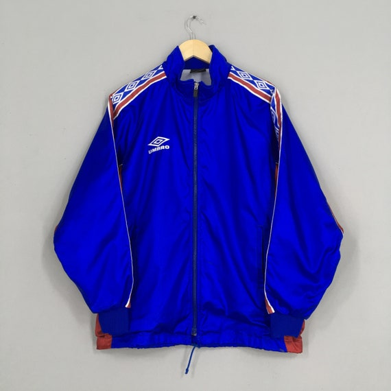 Vintage 90's Umbro Windbreaker Jacket Large Blue S