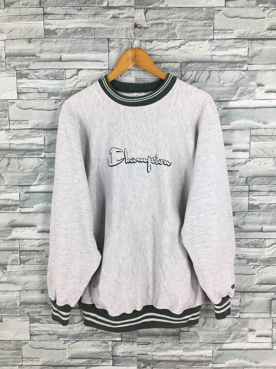 Vintage Champion Reverse Weave Jumper Gray Sweatsh