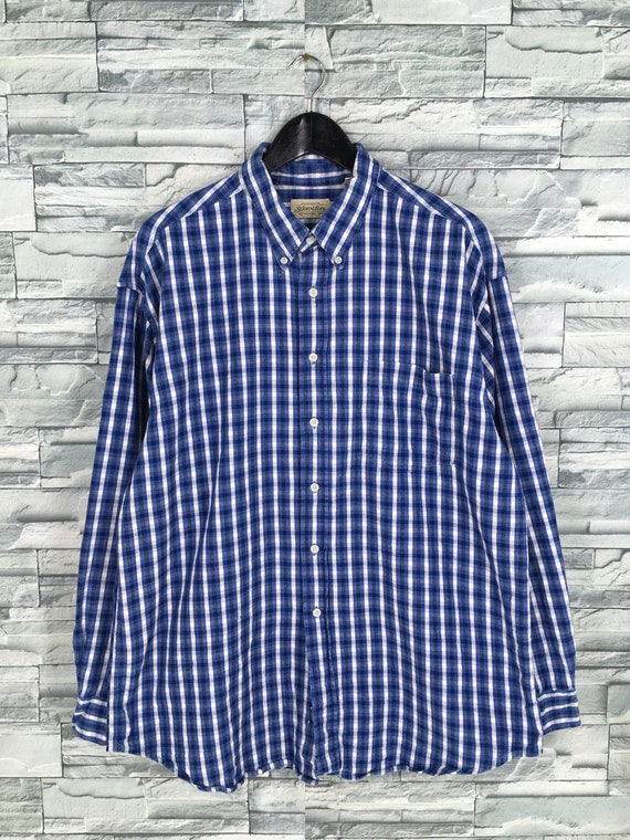 Vintage 1990's Checkered Flannel Shirt Large Plaid