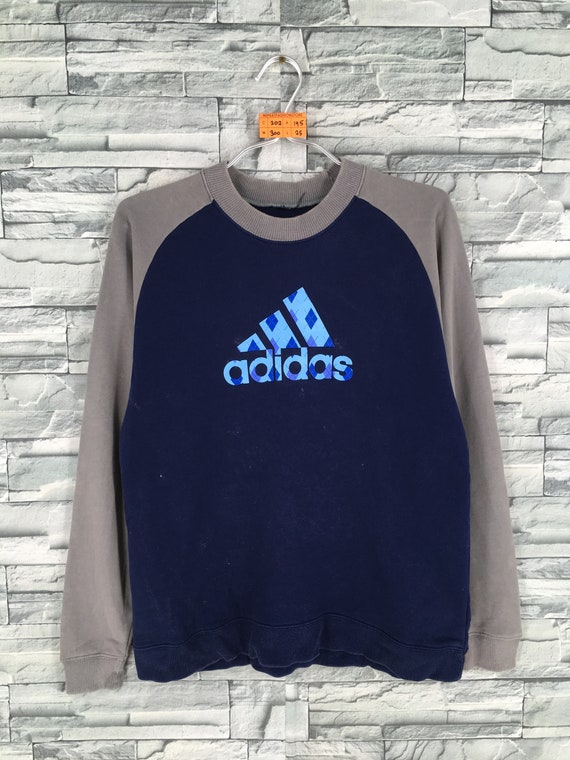 Details about Vintage Adidas Pullover Hoodie Sweatshirt Embroidered Logo Three Stripes 90s L