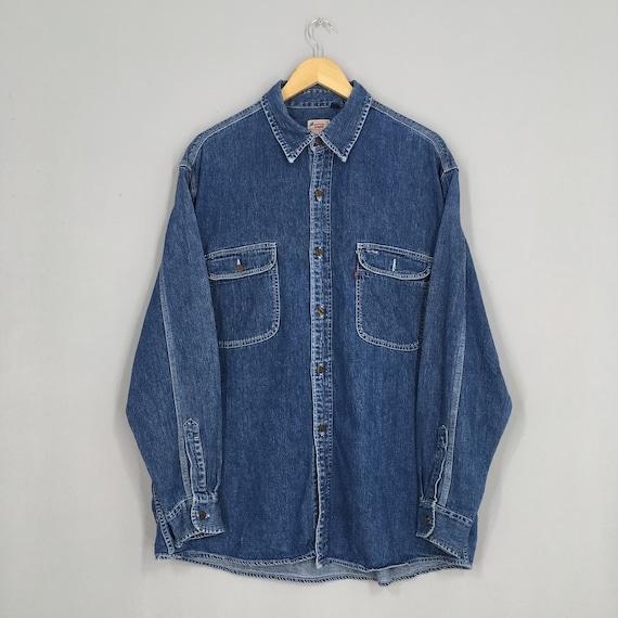 Vintage Levis Strauss Western Jeans Shirt XLarge L