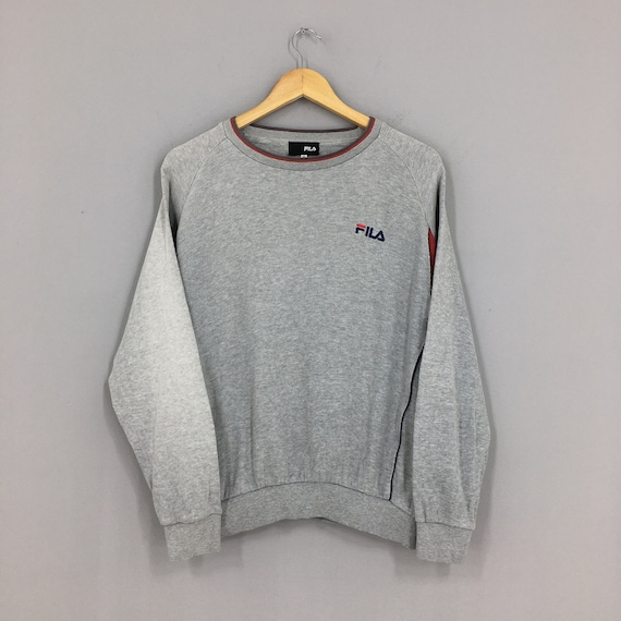Vintage Fila Gray Sweater Medium 90's Fila Italia