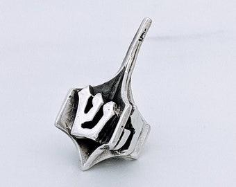 Silver Dreidel, Hanukkah Gift, Silver Spinning Top, Spinning Top, Hanukkah Game, Silver Judaica,  Israeli Art, Judaica Gift, Made in Israel