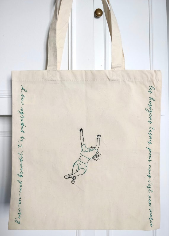 cinema queer embroidery pride Barry Jenkins Moonlight embroidered tote bag lgbt