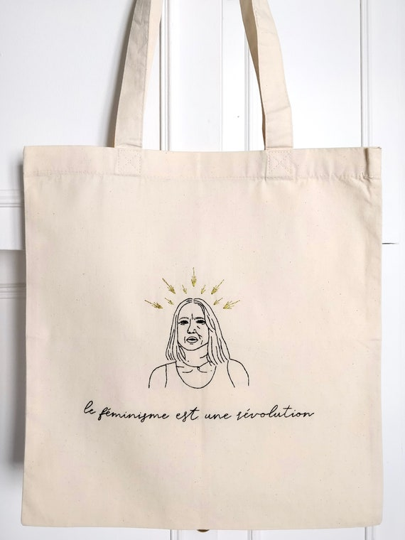 Hand Embroidered Tote Bag Dedicated To Virginie Despentes Le Etsy