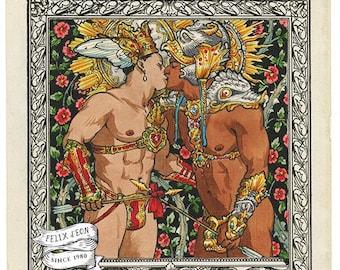 Amor Aeternus. Gay art, queer, faun, satyr, fantasy, male nude, POC, Felix d'Eon.