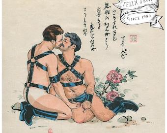 Bubbling emotion. Gay, queer, lgbt, erotica. Felix d'Eon.