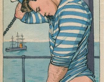 Maritime Modesty. Gay, Sailor, vintage, victorian, gay artist, queer, LGBT, Felix d'Eon.