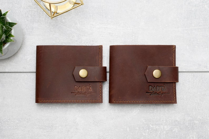 Father/'s gift Man gift Men/'s gift Leather wallet Fathers day gift 4 Dark brown wallet Bifold wallet Gift for father Gift for man