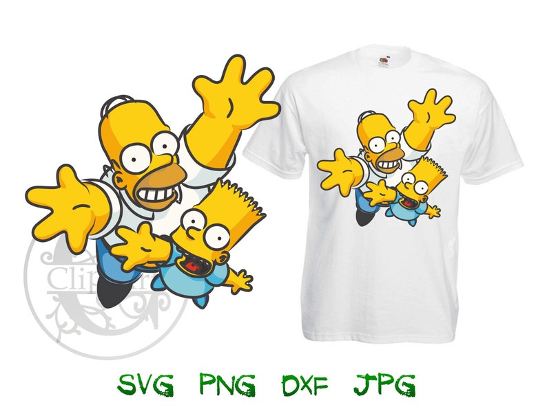 11b325a73a034 Simpsons Vector T-shirt Design Printable, Simpsons iron on transfer for t  shirt, sublimation print t shirts instant download SVG PNG