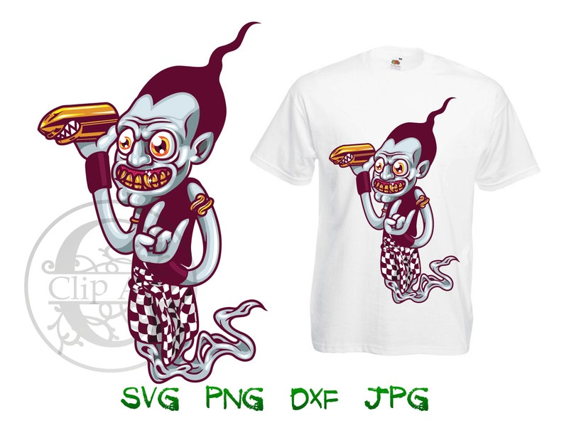 7eefab17eb33d Monster Zombie Woman Clipart Vector T-shirt Design Printable, iron on  transfer for shirt, sublimation print shirts instant download SVG PNG