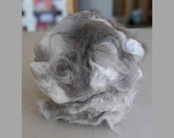 Cat Fiber for Spinning, Clean, Roving, Domestic Shorthair, Domestic Longhair, Yarn, Fur Crafting, Needle Felting, Exotic, Knitting, Crochet