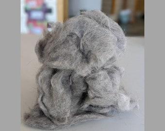 Cat Fiber for Spinning, Clean, Roving, Domestic Shorthair, Yarn, Fur Crafting, Needle Felting, Exotic, Knitting, Crochet