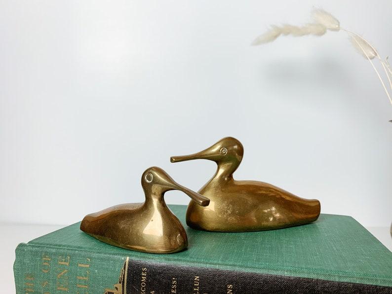 sandpiper? Vintage brass birds