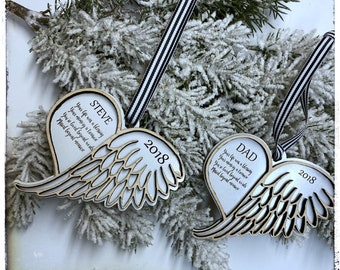 Digital Angel ornament SVG  file. In memory,  Angel wings, memorial keepsake, memory loss , bereavement