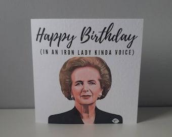 Margaret Thatcher happy birthday card blank inside