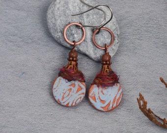 Organic circles earrings