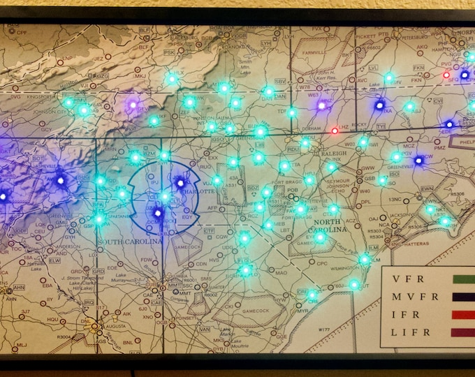 Fiber Optic LED Sectional Weather Map of Your Region. Multiple display modes. Amazing Build Quality! iPhone App Control!