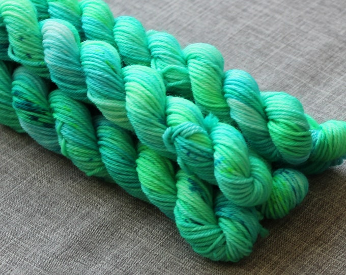Micro Skein Hand Dyed Yarn /'Sea Spray/' 46 yards per skein Indie Dyer
