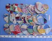 Crazy Patchwork Hearts1950s Fabrics Q-44