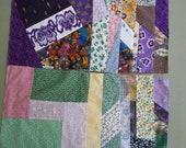 Crazy Patchwork Quilt Blocks 12 Contemporary Materials 13 Inch Squares Q-47
