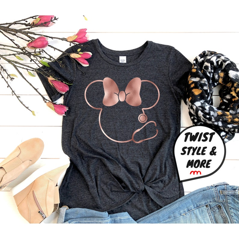 Gearhuman –  Nurse Shirt Disney Nurse Shirt Minnie Mouse Stethoscope – 3D Tshirt – TH-0113