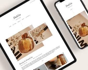 DAHLIA — Responsive Modern Blogger Template + Free Installation