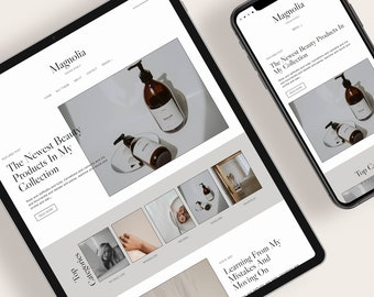 MAGNOLIA — Responsive Modern Blogger Template + Free Installation