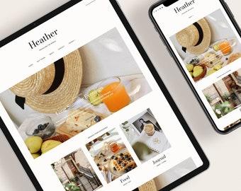 HEATHER — Responsive Modern Blogger Template + Free Installation