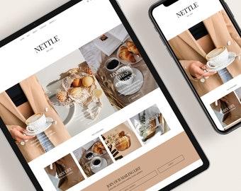 NETTLE — Responsive Modern Blogger Template + Free Installation