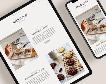 SNOWDROP — Responsive Modern Blogger Template + Free Installation