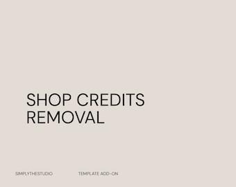 Shop Credits Removal