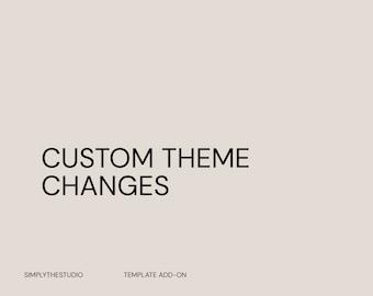 Custom Theme Changes