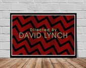 Directed by David Lynch screen credit poster print - Eraserhead - Dune - Blue Velvet - Wild at Heart Fire Walk With Me - Twin Peaks