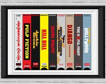 Reservoir Dogs Film. Quentin Tarantino Pop Surreal Art Print- /'Mia Wallace Pulp Fiction/' Cult Movie