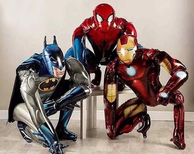 Giant Super Hero Balloon Air walker - Ironman Balloon, Batman Party,SpiderMan Theme Party,  Super Hero Birthday Decoration, Super Hero Party