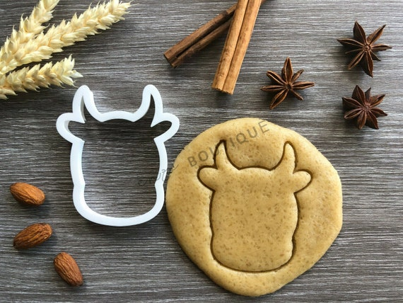Cow Head Cookie//Icing Cutter