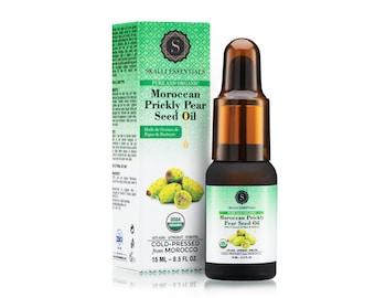 100% Pure USDA Organic Moroccan Prickly Pear Seed Oil | Anti-Aging Oil | Moisturizing Facial Oil (15 mL)