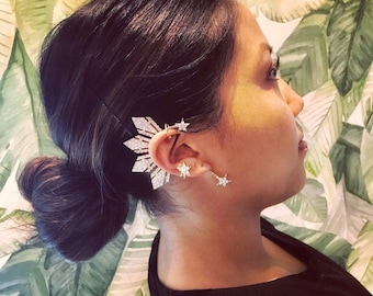 RESTOCKED!! Inspired replica of the Miss Universe Philippines Catriona Gray Ear Cuff - Gold w/ Crystal Rhinestones