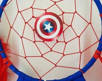 dab003b5eef0c Items similar to Captain America Friendship Bracelet on Etsy