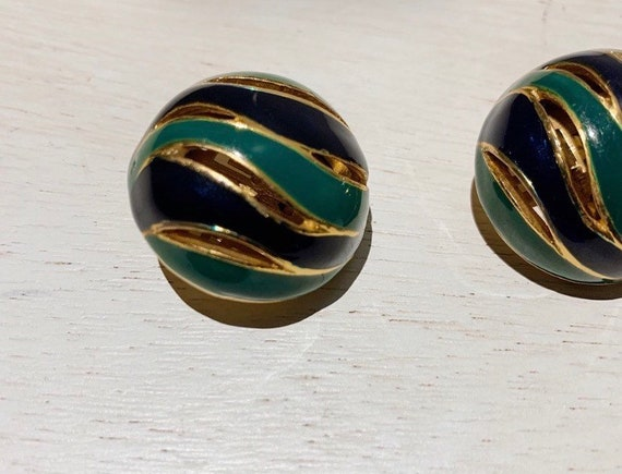 Vintage 80s Lanvin Paris Enamel Earrings - image 2