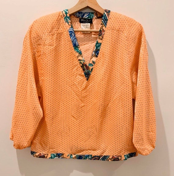 Vintage 80s Authentic Diane Freis Blouse