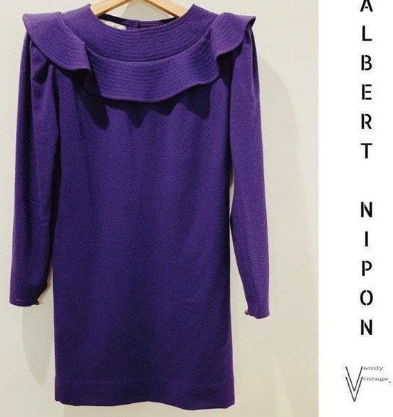 Vintage 60s Albert Nipon Wool Dress