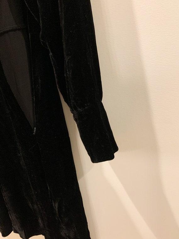 Vintage 90s Laura Ashley Black Velvet Dress, Mini… - image 9